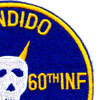 5th Battalion Of The 60th Infantry Regiment Patch Bandido Mech Charlie   Upper Right Quadrant