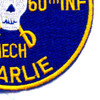 5th Battalion Of The 60th Infantry Regiment Patch Bandido Mech Charlie   Lower Right Quadrant