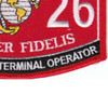 0626 Fleet Satcom Terminal Operator MOS Patch | Lower Right Quadrant