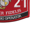 0621 Field Radio Operator MOS Patch | Lower Right Quadrant