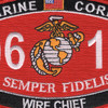 0619 Wire Chief MOS Patch | Center Detail