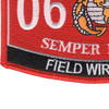 0612 Field Wireman MOS Patch | Lower Left Quadrant