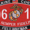 0612 Field Wireman MOS Patch | Center Detail