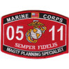 0511 Marine Air Ground Task Force Planning Specialist MOS Patch