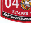 0411 Maintenance Management Specialist MOS Patch | Lower Left Quadrant