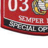 0326 Special Ops Recon MOS Patch | Lower Left Quadrant