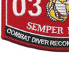 0324 Combat Diver Reconnaissance Man MOS Patch | Lower Left Quadrant