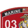 0323 Parachute Reconnaissance Man MOS Patch   Upper Left Quadrant