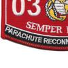 0323 Parachute Reconnaissance Man MOS Patch   Lower Left Quadrant