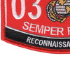 0321 Reconnaissance Man MOS Patch | Lower Left Quadrant