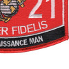 0321 Reconnaissance Man MOS Patch | Lower Right Quadrant