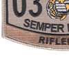 0311 Rifleman MOS Patch Desert | Lower Left Quadrant