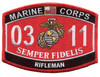 Marine MOS Patch 0311 Rifleman