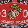 0303 Light Armored Recon Officer MOS Patch   Center Detail