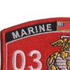 0303 Light Armored Recon Officer MOS Patch   Upper Left Quadrant