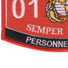 0182 Personnel Chief MOS Patch | Lower Left Quadrant