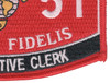 0151 Administrative Clerk MOS Patch