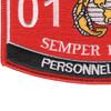 0121 Personnel Clerk MOS Patch | Lower Left Quadrant