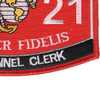 0121 Personnel Clerk MOS Patch | Lower Right Quadrant