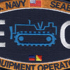 Seabee Construction Equipment Operator Patch Rating | Center Detail