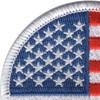 Round United States Flag Patch | Upper Left Quadrant