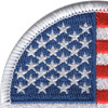 Round United States Flag Patch | Upper Left Quadrant