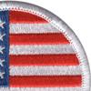 Round United States Flag Patch | Upper Right Quadrant