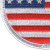 Round United States Flag Patch | Lower Left Quadrant