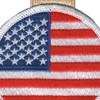 Round Flag Christmas Tree Ornament | Center Detail