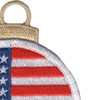 Round Flag Christmas Tree Ornament | Upper Right Quadrant
