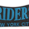 Riders New York City Back Patch   Center Detail
