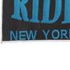 Riders New York City Back Patch   Lower Left Quadrant