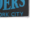 Riders New York City Back Patch   Lower Right Quadrant