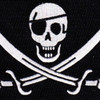 Navy Seal 1 Eye Calico Jack Pirate ACU Patch | Center Detail