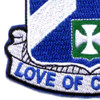 58th Infantry Regiment Patch Love Of Country   Lower Left Quadrant
