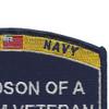 Navy Grandson Of A Vietnam Veteran Patch | Upper Right Quadrant