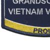 Navy Grandson Of A Vietnam Veteran Patch | Lower Left Quadrant