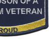 Navy Grandson Of A Vietnam Veteran Patch | Lower Right Quadrant