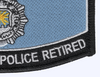 Security Police Retired Patch | Lower Right Quadrant
