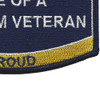 Seabees Wife Of A Vietnam Veteran Patch | Lower Right Quadrant