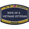 Seabees Wife Of A Vietnam Veteran Patch