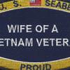 Seabees Wife Of A Vietnam Veteran Patch | Center Detail