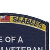 Seabees Wife Of A Vietnam Veteran Patch | Upper Right Quadrant