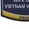 Seabees Wife Of A Vietnam Veteran Patch | Lower Left Quadrant