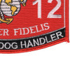 5812 Working Dog Handler MOS Patch | Lower Right Quadrant