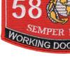 5812 Working Dog Handler MOS Patch | Lower Left Quadrant