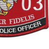5803 MOS Military Police Officer Patch   Lower Right Quadrant