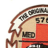 57th Medical Company Air Ambulance Patch   Upper Left Quadrant