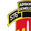 576th Airborne Infantry Demolition Detachment Patch   Upper Left Quadrant