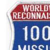 RC-135 100 Missions Real Reconnaissance Patch | Upper Left Quadrant